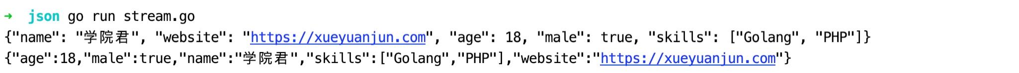 JSON 流式读写演示