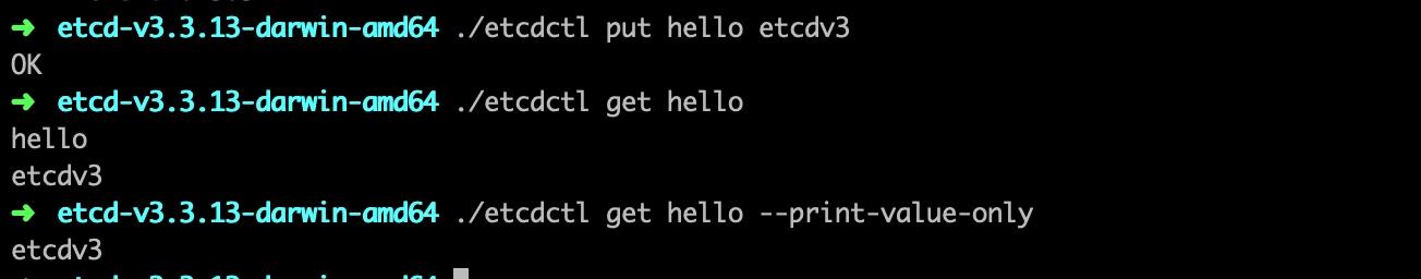Etcd 交互指令
