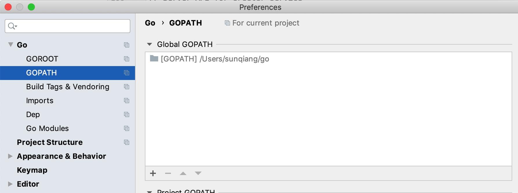 GOPATH路径