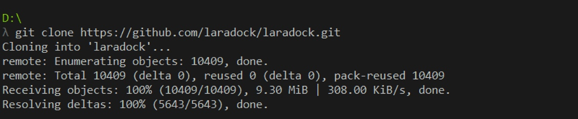 下载 laradock
