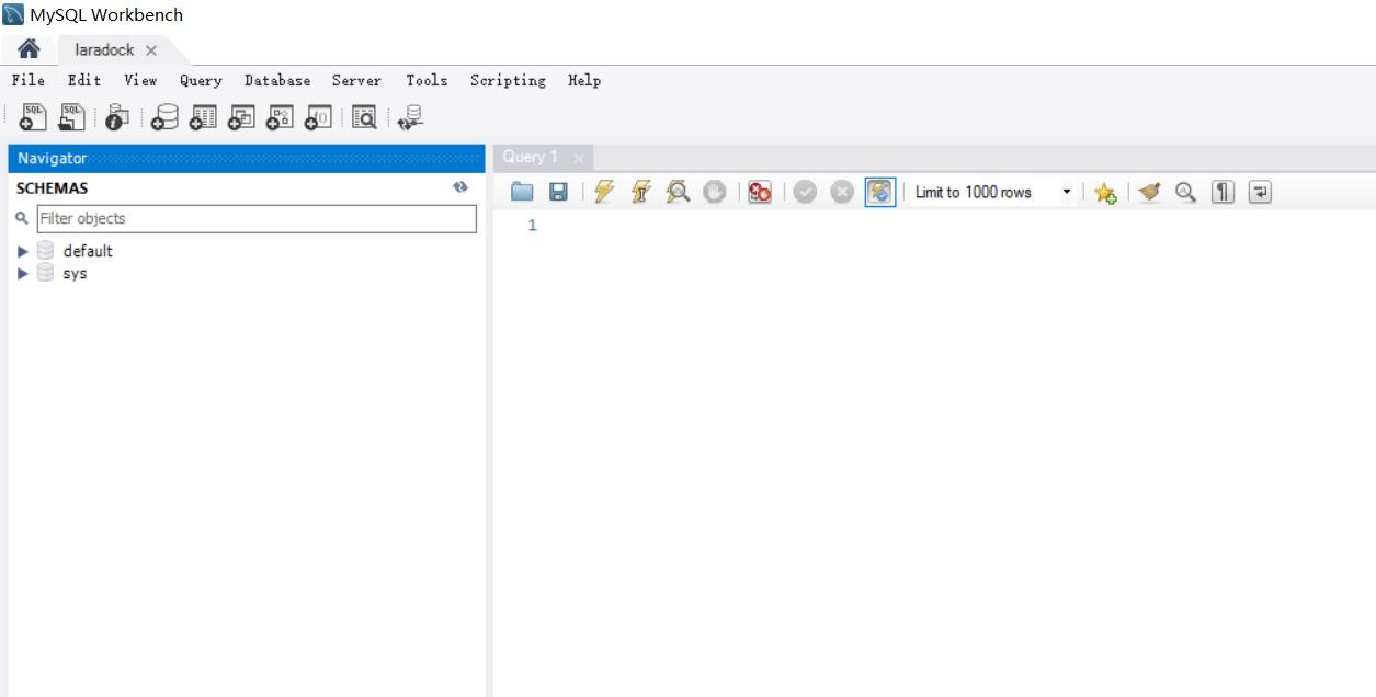 MySQL Workbench 管理界面