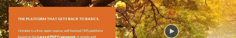 使用Laravel构建的网站:October