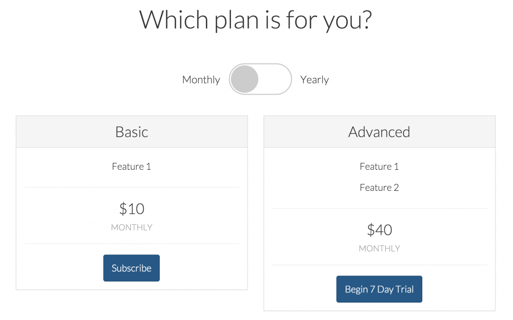 laravel-spark-payment-plan