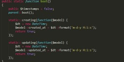 Laravel Eloquent 模型中使用时间戳