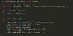 将MySQL数据库表转化为Laravel迁移文件
