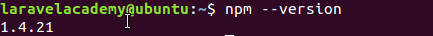 Ubuntu查看npm版本信息