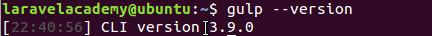 Ubuntu查看Gulp版本
