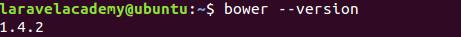 Ubuntu查看Bower版本
