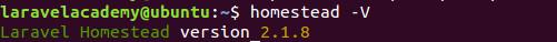 查看Ubuntu下Homestead版本