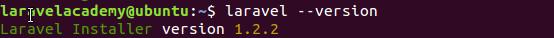 在Ubuntu中查看Laravel安装器版本