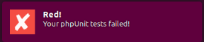 使用Gulp运行单元测试失败提示框