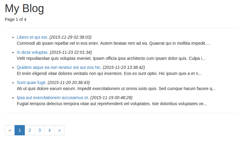 Laravel创建的博客首页
