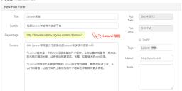 Laravel博客文章发布页面