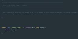 Laravel路由模型绑定