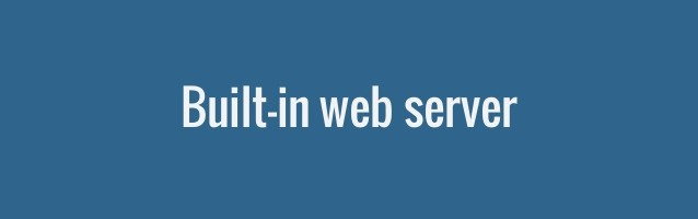 php-built-in-web-server