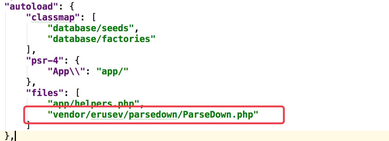 全局引入ParseDown文件