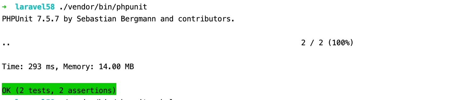 Laravel PHPUnit 测试